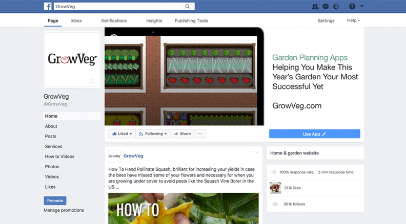 Growing Interactive Services – Garden Planning Website