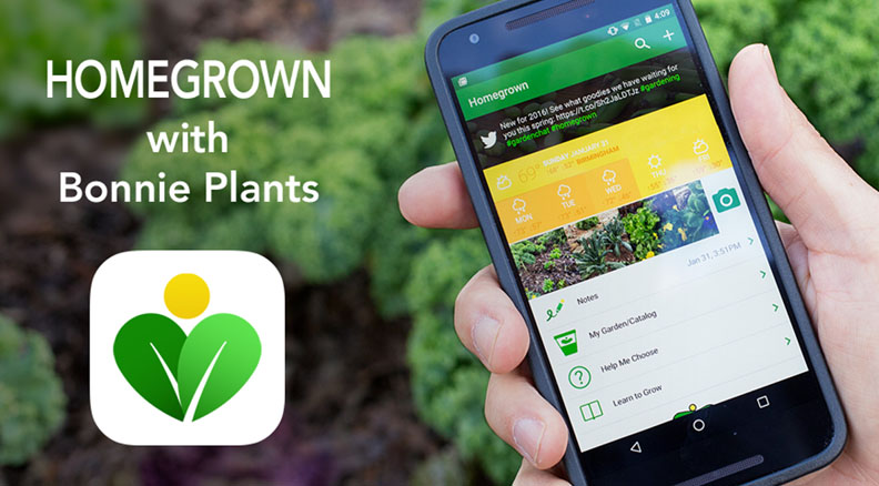 Homegrown App from Bonnie Plants